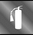 fire extinguisher sign icon hole in vector image