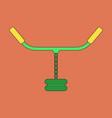 flat icon on stylish background sports simulator vector image vector image