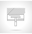 Floor installing flat line icon vector image vector image