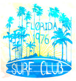 florida surf club watereffect vector image vector image