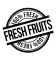 Fresh fruits stamp vector image vector image