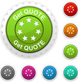 Get quote award vector image vector image