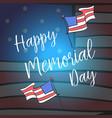 happy memorial day style design vector image vector image