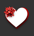 heart shape valentine s paper card vector image vector image