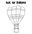 Hot air balloon art vector image