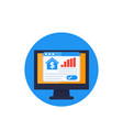 house prices growth real estate analytics vector image