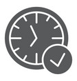 in-time glyph icon watch and countdown clock vector image vector image