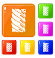 jelly stick icons set color vector image vector image