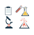 lab icons set vector image