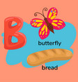 letter b children s alphabet vector image