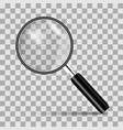 magnifying glass on a transparent background vector image