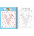 maze letter v vector image vector image