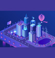 modern smart city isometric vector image vector image
