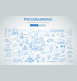 programming concept with business doodle design vector image vector image