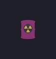 Radioactive waste computer symbol