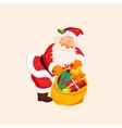 Santa Claus holding a Sack with Toys vector image vector image