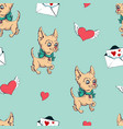 seamless pattern with dogs childish pattern with vector image vector image