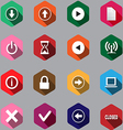 set of computer icon vector image