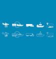 set of icons transported shipping delivery vector image vector image