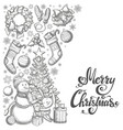 side vertical border with christmas icons vector image vector image