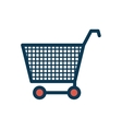 silhouette color with shopping cart vector image vector image