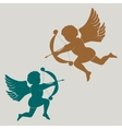 silhouette Cupid with bow vector image
