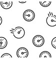 speedometer icon seamless pattern vector image vector image