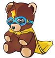 Super Hero Teddy Bear Cartoon Character vector image vector image