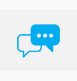 talk bubble speech icon blank empty bubbles vector image vector image