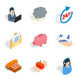 tech maintenance icons set isometric style vector image vector image
