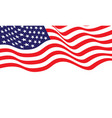 united state america flag wave on white vector image vector image