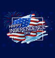 usa 4th july happy independence day vector image vector image