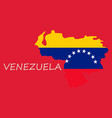 venezuela map national flag icon vector image vector image