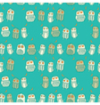 Vintage Owls Pattern vector image