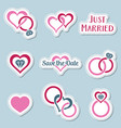 vintage wedding symbols labels vector image vector image