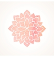 Watercolor pink flower pattern Silhouette of vector image vector image