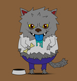 Werewolf cartoon vector image
