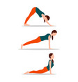 yoga collection in color vector image