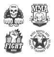 Set of four mma emblems vector image