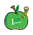 worm in the apple color vector image