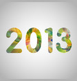 colorful new year vector image
