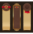 Set of leather and paper vintage banners vector image
