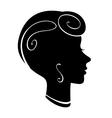 Female profile vector image