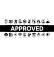approved minimal infographic banner vector image