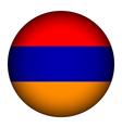 Armenia flag button vector image vector image