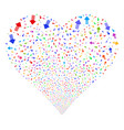 arrow pointer fireworks heart vector image vector image