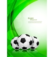 Background with soccer balls vector image vector image