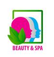 beauty faces fashion spa logo vector image