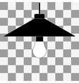 black bulb icon vector image vector image