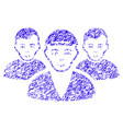 boy friends icon grunge watermark vector image vector image